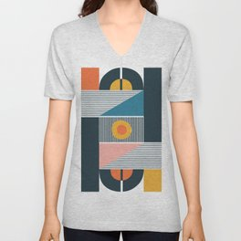 broken record Unisex V-Neck