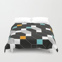depeche mode Duvet Covers featuring Mode duex by blacknote