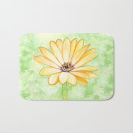 Orange aster flower Bath Mat