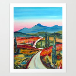 TUSCANY COUNTRY ROAD Art Print