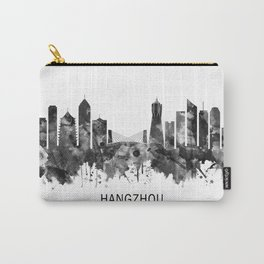 Hangzhou China Skyline BW Carry-All Pouch