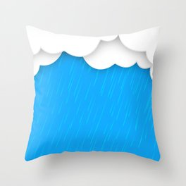 Abstract 3D Rain Throw Pillow