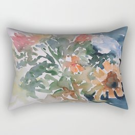 Autumn Flowers Rectangular Pillow