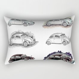 Classic mint green beetle automovil composition Rectangular Pillow