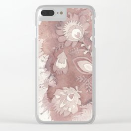 Polish Pattern Clear iPhone Case