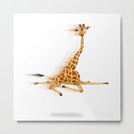 Running Giraffe / Jirafa Corriendo Metal Print