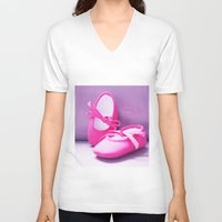 doll V-neck T-shirts featuring DOLL by Alix Création