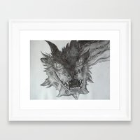 smaug Framed Art Prints featuring Smaug by Jess5_11