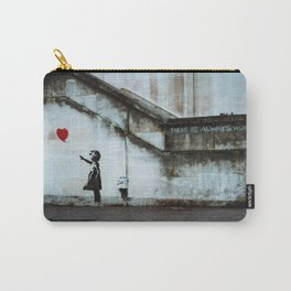 Banksy street art / photograph - girl with red ballon Carry-All Pouch