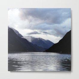 Inbetween Mountains Metal Print