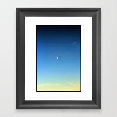 Moon and Sky Framed Art Print