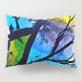 Colorful leaves. A translucent universe full of peace and harmony. Pillow Sham