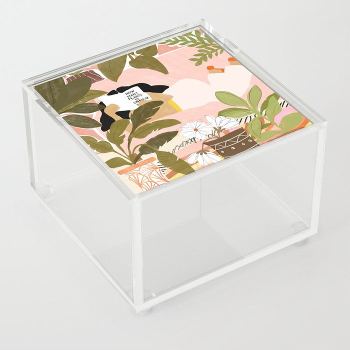 How Many Plants Is Enough Plants? Acrylic Box