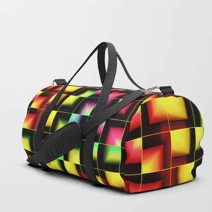 Colorful geometric abstract Duffle Bag