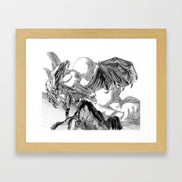 Dragon Roar! Framed Art Print