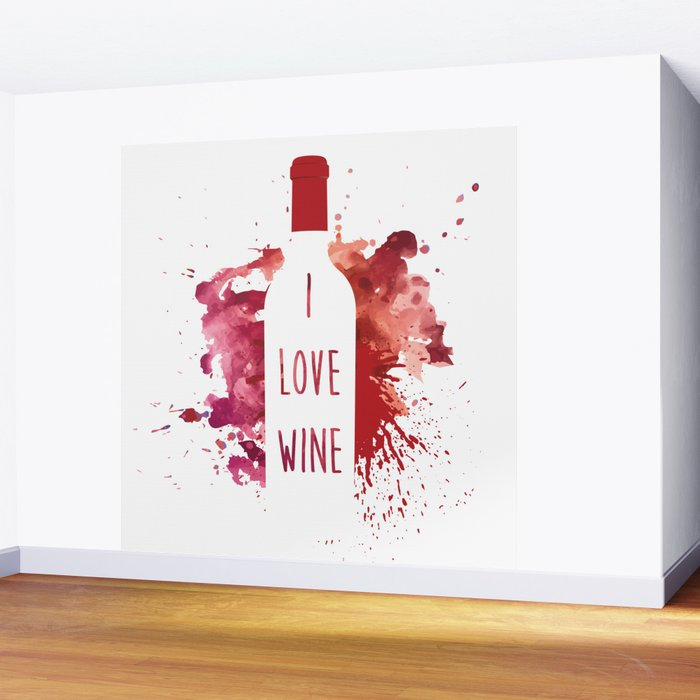 wine bottle Wall Mural