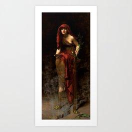 "John Collier ""Priestess of Delphi"" Art Print"