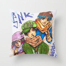 Modern SNK Throw Pillow