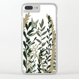Greenery Illustration Clear iPhone Case