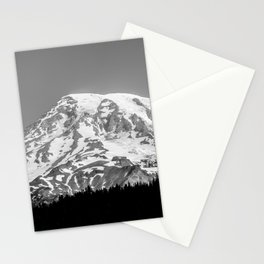 Mount Rainier Black and White Stationery Cards
