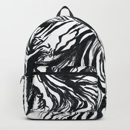 Marbled Black Backpack