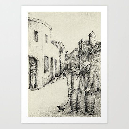 Village Elders of Lija Art Print