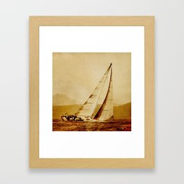 old sailboat sailing Framed Art Print