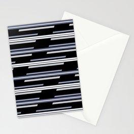 Skewed Stripes Pattern Design Stationery Cards