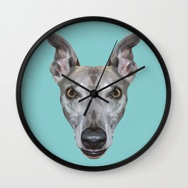 Whippet // Blue (Vespa) Wall Clock