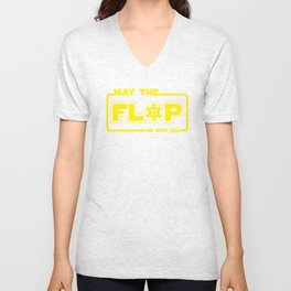 May The Flop Be With You - Funny Poker Pun Gift Unisex V-Neck