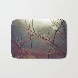 Bird and Red Branches Bath Mat