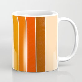 orange retro u stripes Coffee Mug