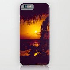 Kamaole Tropical Nights Sunset Gold Purple Palm iPhone 6s Slim Case