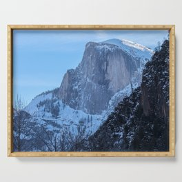 Half Dome in Winter Serving Tray