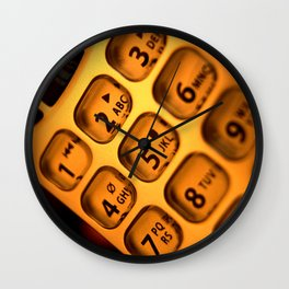 Phone keypad old school Wall Clock