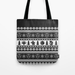 "Roll for Initiative Fair Isle in ""Coal"" Tote Bag"