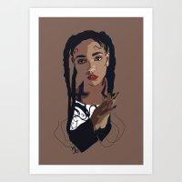 fka twigs Art Prints featuring FKA Twigs by Anna McKay