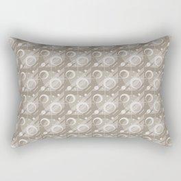 Modern Geometric Pattern 6 in Taupe Rectangular Pillow
