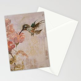 Purple Hummingbird Stationery Cards