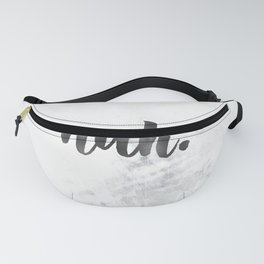NAH Marble Quote Fanny Pack