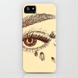 Fierce Eye - Brown iPhone Case