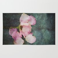 depression Area & Throw Rugs featuring Wilted Rose II by Maria Heyens
