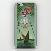 haunted mansion iPhone & iPod Skins featuring Disquieting Metamorphosis - Haunted Mansion by Patricia Cervantes