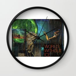 World Without Ice Wall Clock