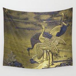 Golden Birds Wall Tapestry