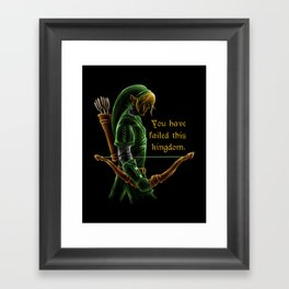 The Green Hookshot Framed Art Print