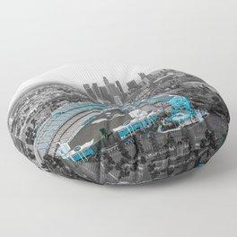 Los Angeles Skyline Floor Pillow