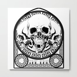 Skulls Stained Glass Metal Print
