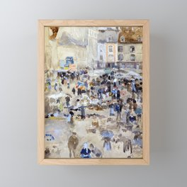 James McNeill Whistler Variations in Violet and Grey Market Place, Dieppe Framed Mini Art Print
