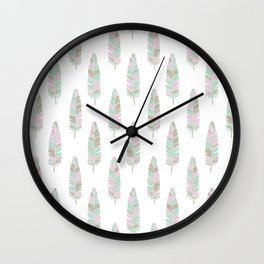 BABY TRIBAL FEATHERS Wall Clock